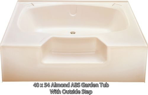 Kinro Permalux 40 In X 54 In Mobile Home Tub With Rear Center Drain (Almond