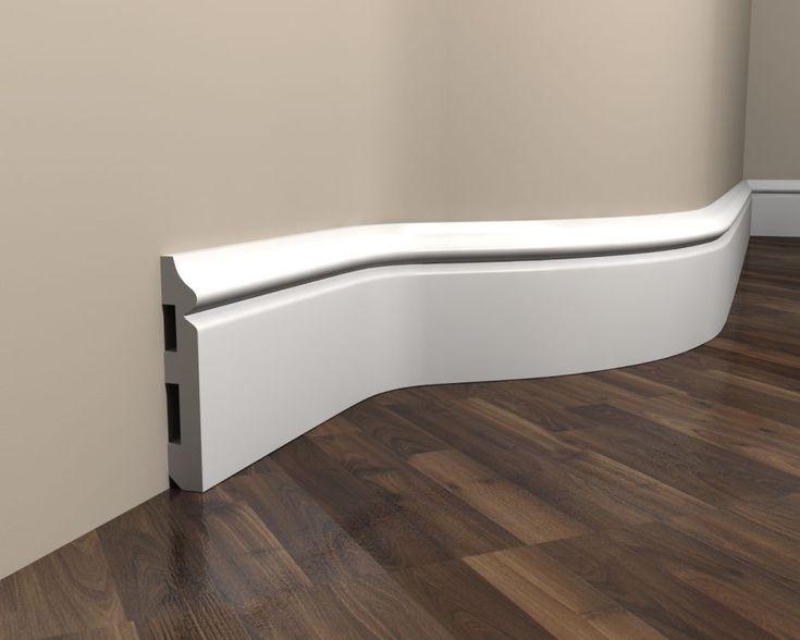 Listwa przypodłogowa elastyczna MD018 flex to gięta listwa, która można dostosować do nieregularnego kształtu ściany. Dzięki temu łuki w Twoim domu nie będą stanowić już żadnego problemu. #molding #baseboard #Interior #Decoration