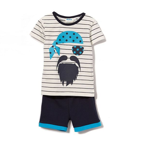 Milky Pirate Pj'S Navy And White Stripe