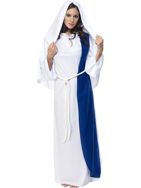 Naamiaisasu; Neitsyt Maria. Neitsyt Marian naamiaisasu on kaunis ja sopii hyvin monenlaisiin tilaisuuksiin, joskin tässä asussa lienee parasta käyttäytyä kunniallisesti. Sisältää: - Kaavun - Vyön - Päähineen