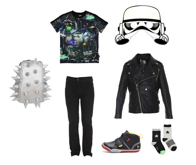 Star Wars Inspiration Pictured: Madpax World Backpack, Molo T-shirt, Socks and Jacket, Popupshop Jeans and Plae UK Shoes www.alegremedia.co.uk #alegremedia