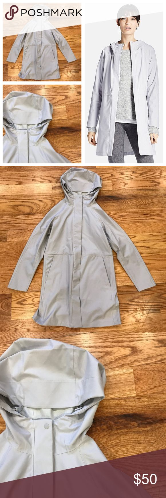 Uniqlo Blocktech Rain Jacket Cool light grey Uniqlo Blocktexh Rain Jacket/Coat. Size small. In like new condition. Feel free to ask any questions below or make me an offer. Bought last fall at the Uniqlo flagship store in Ginza, Tokyo and worn once. Uniqlo Jackets & Coats