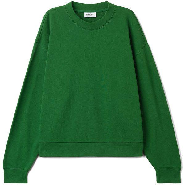 Huge Cropped Sweatshirt  - Bright Green - Hoodies & sweatshirts -... ($28) ❤ liked on Polyvore featuring tops, hoodies, sweatshirts, crop tops, hooded sweatshirt, oversized sweatshirt, cropped hoodie and long sleeve hooded sweatshirt
