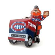 Montreal Canadiens Mascot on Zamboni Lapel Pin-Fast and free shipping in the USA