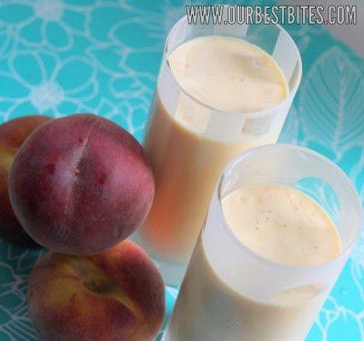 peach milkshakes: Peaches Smoothie, Peaches Recipes, Drinks Smoothie, 0O Peaches O0, Recipes Beverages, Peaches Shakes I, Bites Peaches, Healthy Drinks, Peaches Milkshakes