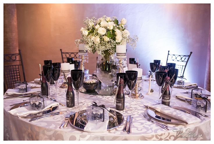 Black and White  table settings