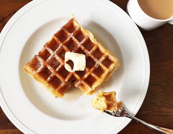 """Few """"griddle breads"""" deliver the goods the way waffles can. And waffles go beyond breakfast. Example: Leave out to get stale, then tear into chunks for bread pudding."""