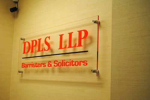 DPLS LLP Law Office Reception Sign