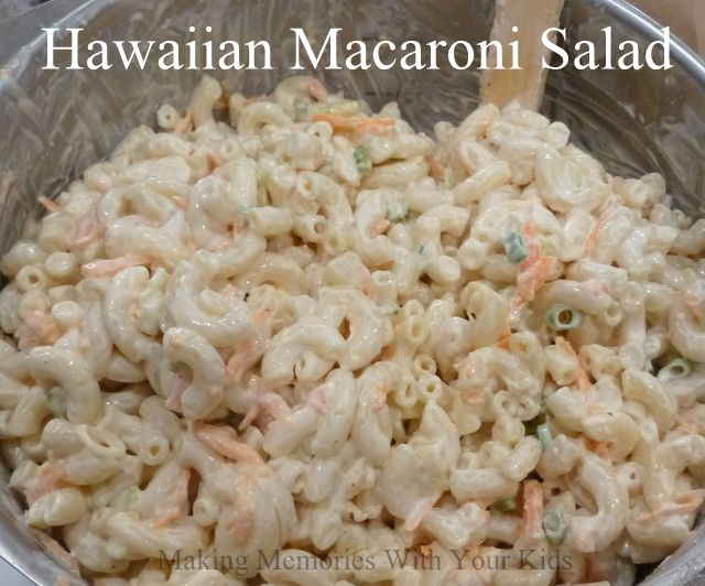 """A Hawaiian restaurant opened up where I live and I can't seem to get enough of their Macaroni Salad. People have asked me, doesn't it taste just like regular macaroni salad? And the answer is """"heck no!"""" It's much better! I think it's because it's made with apple cider vinegar and doesn't have mustard in …"""