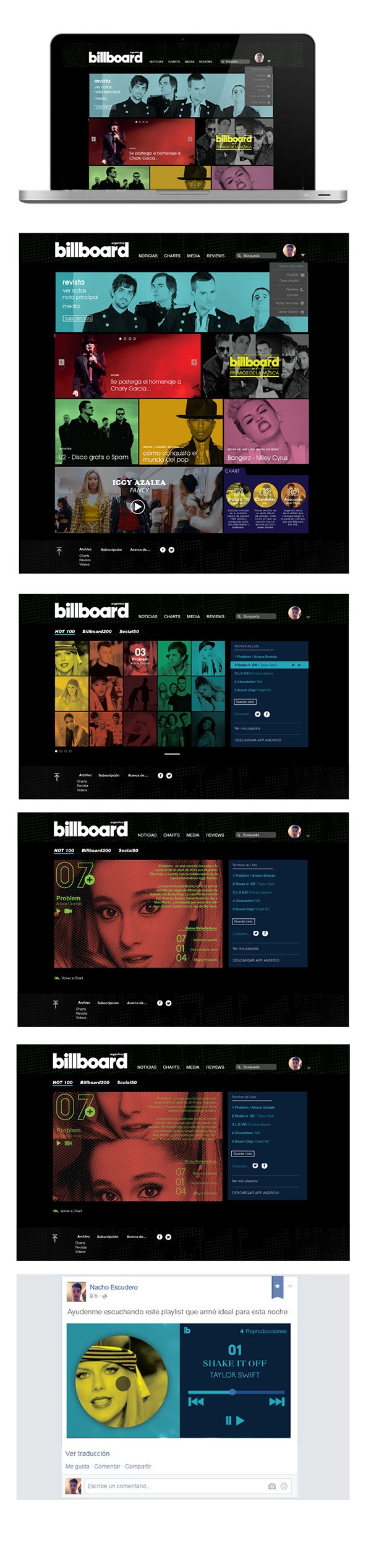 Billboard Arg - Web on Behance