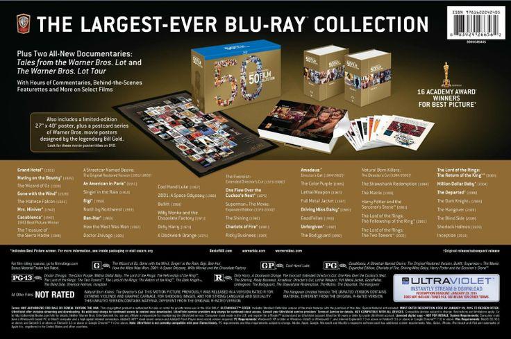 Amazon.com: Best of Warner Bros 50 Film Collection (+UltraViolet Digital Copy) [Blu-ray]: Various: Movies & TV