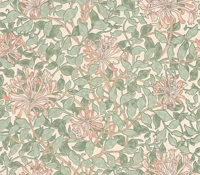 Honeysuckle (WM7611/5) - Morris Wallpapers - A flat wallpaper that is suitable for use in most rooms. It is not however recommended for use in kitchens or bathrooms.