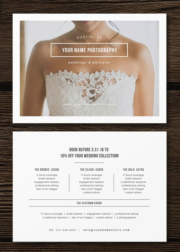 Photography Price List Template  TvsputnikTk