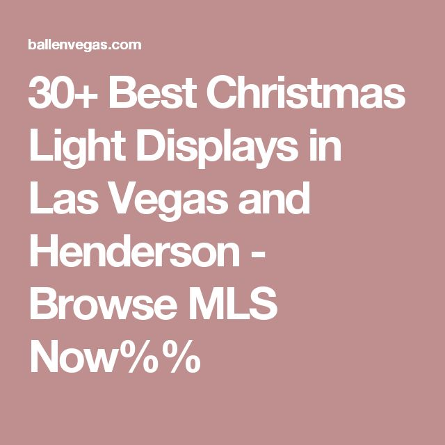 Outdoor Lighting Las Vegas: 1000+ Ideas About Christmas Lights Display On Pinterest