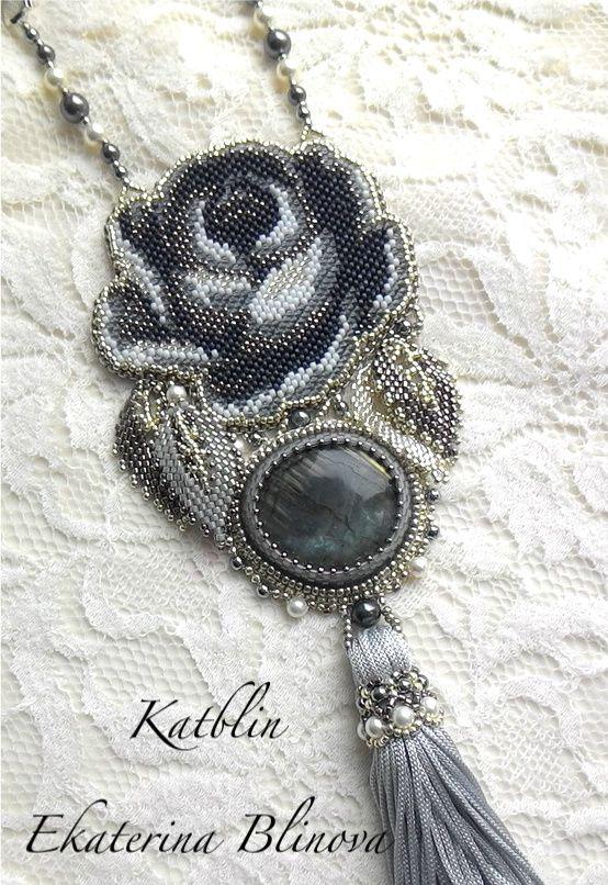 "Jewelry and accessories by Ekaterina Blinova: Кулон ""Туманное утро"""