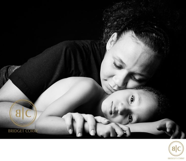 Bridget Corke Photography - Portrait Study of Mother and Son in Studio: