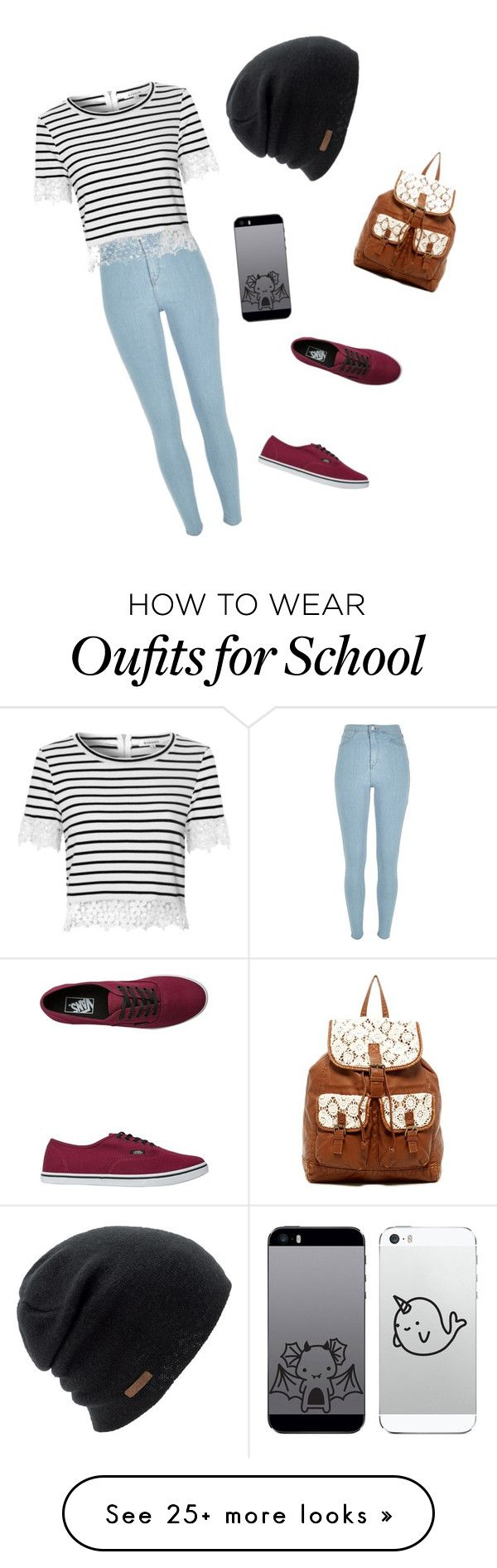"""""""School x3"""" by kylieraine on Polyvore featuring River Island, Vans, Glamorous, Coal and T-shirt & Jeans"""