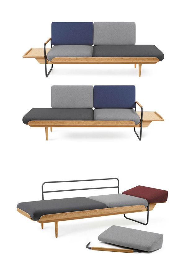 Cudowna, wielofunkcyjna leżanka Napka marki Tabanda to inspiracja formą leżanek z lat 70. Sprawdzi się w salonie, poczekalni czy gabinecie. Znajdź więcej na: www.euforma.pl #tabanda #napka #leżanka #home #livingroom #office #design #polishdesign #biuro