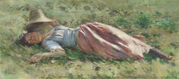 Property of the Virginia Museum of Fine Arts | In the Sun | 1891 | Theodore Robinson | oil on canvas