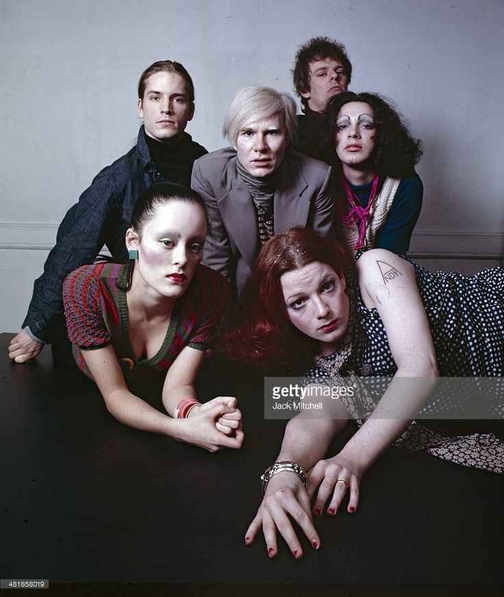 Andy Warhol, Jane Forth, Jackie Curtis, Joe Dallesandro, Holly Woodlawn and Paul Morrissey .
