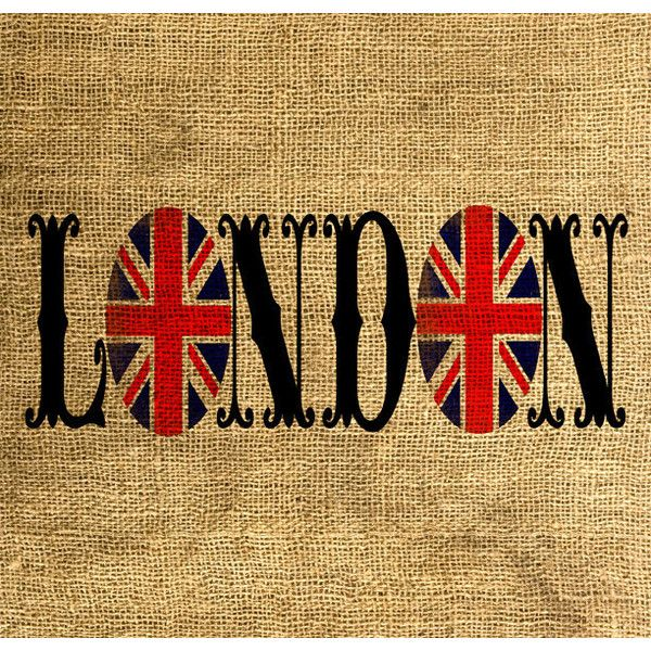 LONDON Union Jack Vintage Font - Download and Print - Image Transfer - Digital Sheet by Room29 - Sheet no. 613