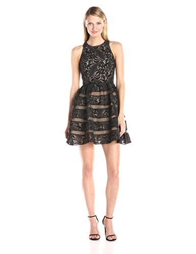 Aidan by Aidan Mattox Womens Sleeveless Lace Cocktail Party Dress with Skirt