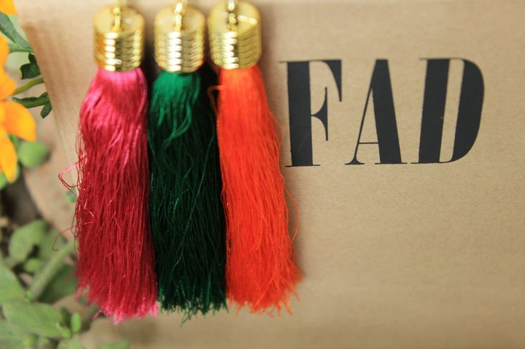 Colored Thread Tassels Price: Rs. 125 each http://ilovefad.kartrocket.co/