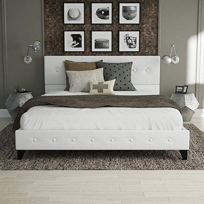 Urest Full Size Bed Frame Platform Bed Mattress Foundation Wood