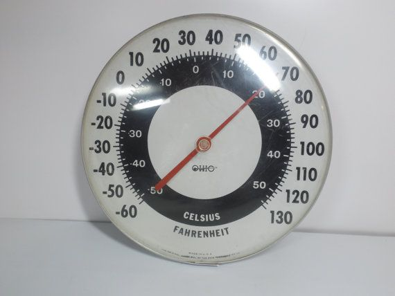 large  wall round thermometer OHIO .12 in by HuntWithJoy on Etsy