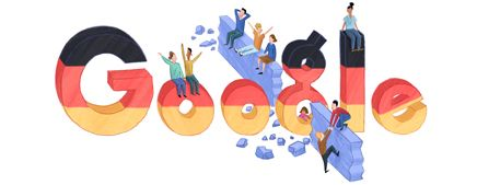 Google Doodle of the Day - German Reunification Day 2012 (Germany) // Google Doodle des Tages - Tag der Deutschen Einheit (Deutschland)