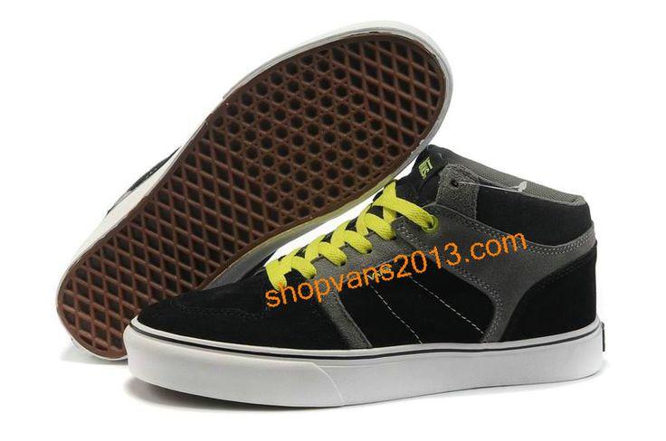 Vans Skate Ellis Mid Grey Black Green
