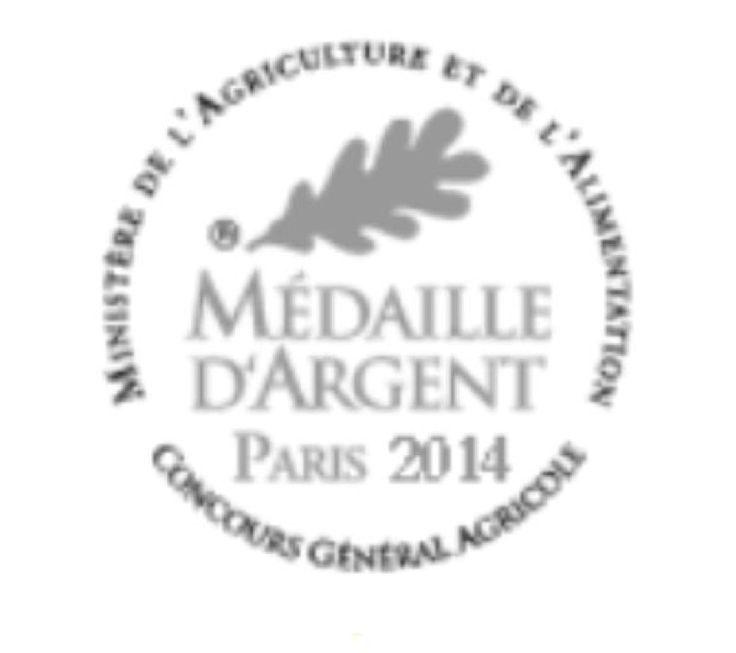 Médaille d'argent 2014 au Concours Général agricole/silver France agriculture  award