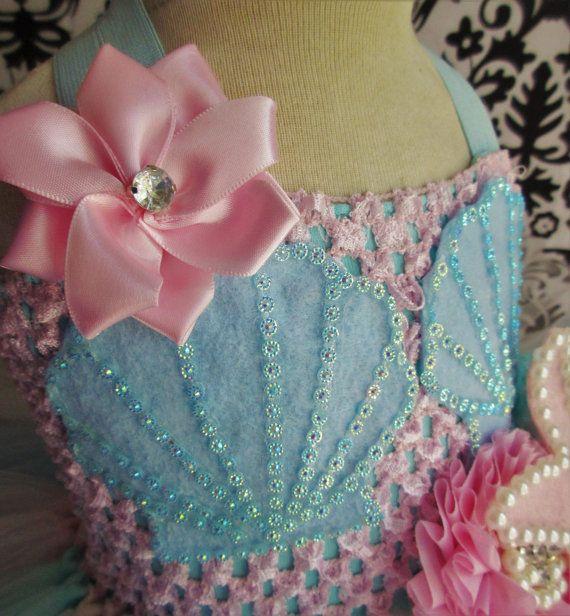 Baby Mermaid Dress /Pink Mermaid Costume/Mermaid dress/Pink