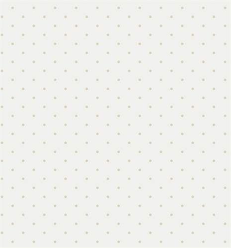 Fint mønstret papirtapet fra Babies med hvit bakgrunn og beige små prikker. Bland prikkete tapeter med stripete, ensfargede eller mønstrede for å skape et personlig barnerom. Tapeten er vaskbar og har god lysekthet. Materiale: Pap