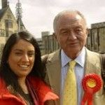 Naz Shah with former London mayor Ken Livingstone in April 2015 -- a year before both were suspended from the Labour Party amid allegations of antisemitism.  Photo: Wikimedia Commons.