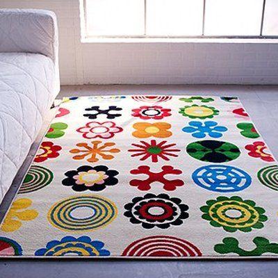 Ikea Lusy Blom Rug Low Pile Modern Carpet 65 48