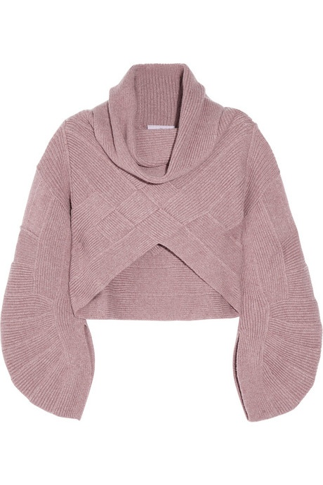 Hervé Léger Cropped cashmere-blend sweater