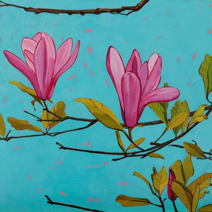 Magnolia Matinee.  Oil on Panel #pleinair #workingfromlife #magnolia #pinkmagnolia