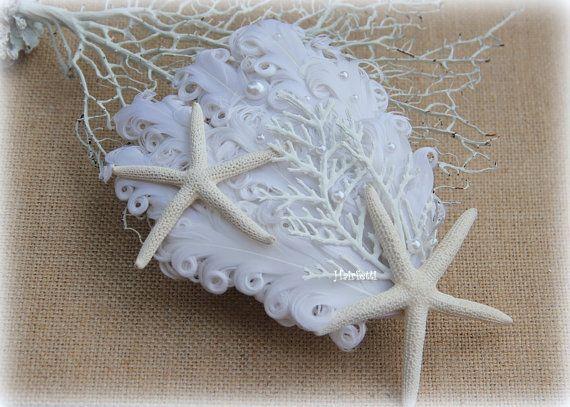 Beach Bridal Starfish hair clip beach wedding by Hairfetti on Etsy