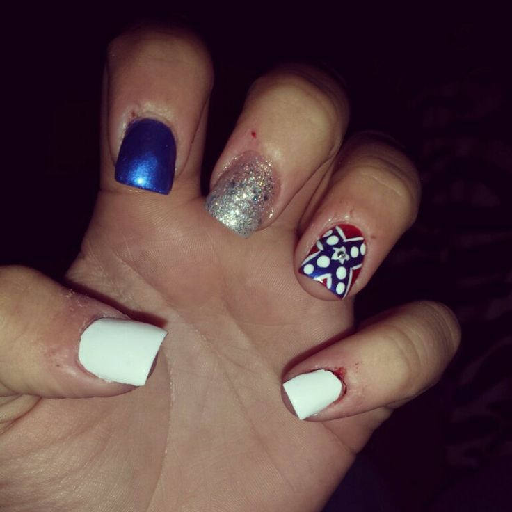 Rebel flag nails! - 25 Best Nails <3 Images On Pinterest Nail Scissors, Acrylic Nail