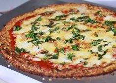Receita de pizza sem farinha (sem glúten) com massa de couve-flor | Cura pela Natureza.com.br