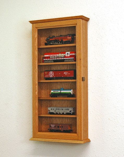 Model Train Display Case Cabinet Ho Scale Models Nice