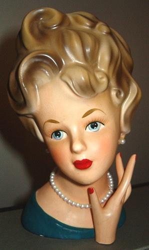 Tall Lady Headvase Head Vase Ardco Dallas C1543 Updo