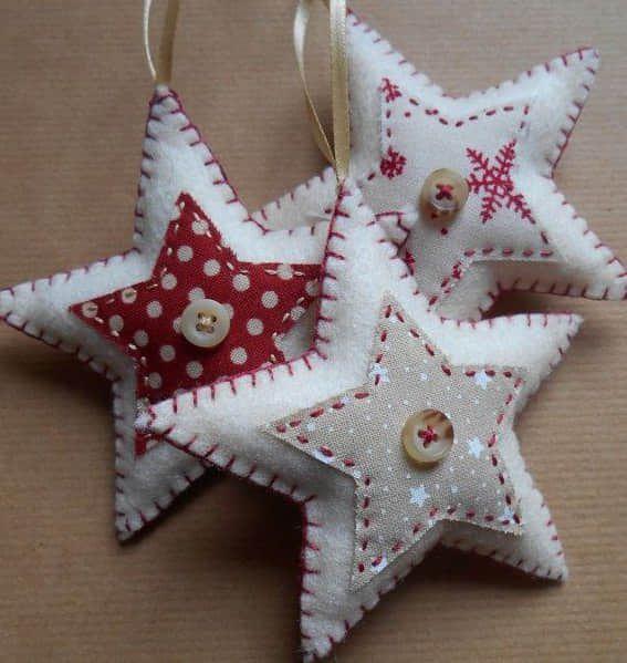 Moldes estrellas navideñas en fieltro07