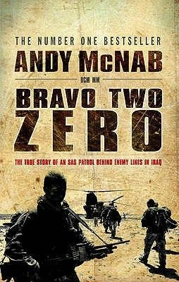 In January 1991, eight members of the SAS regiment embarked upon a top secret mission that was to infiltrate them deep behind enemy lines. Under the command of Sergeant Andy McNab, they were to sever the underground communication link between Baghdad and north-west Iraq, and to seek and destroy mobile Scud launchers. Their call sign: BRAVO TWO ZERO. http://www.goodreads.com/book/show/22202.Bravo_Two_Zero