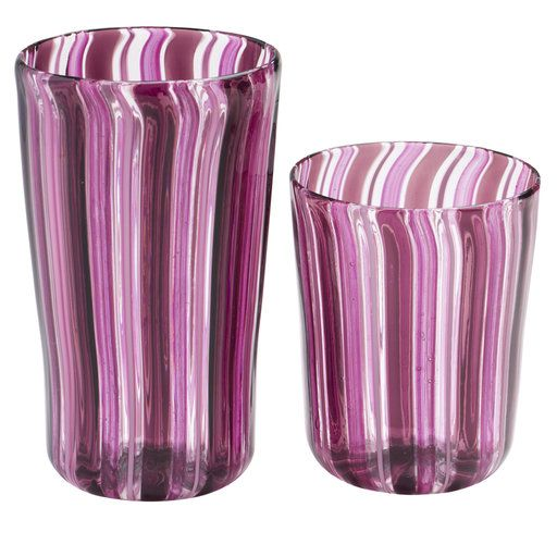 Set of Harlequin Water and Wine Murano Glasses for Six - Shop La Fornasotta online at Artemest