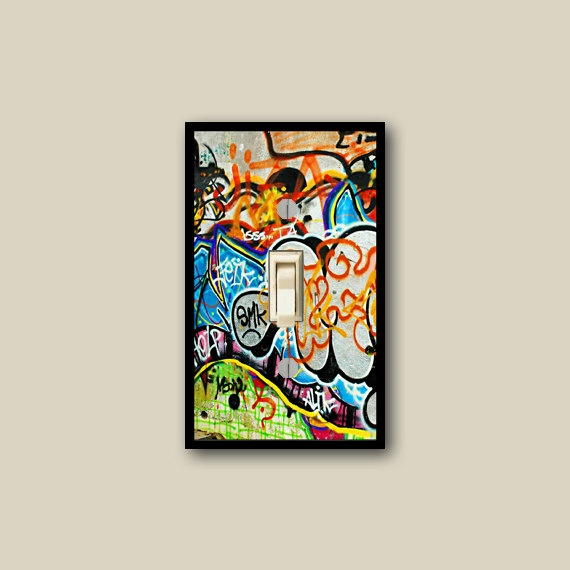 Graffiti Lightswitch Cover Genuine Graffiti Wall Decor