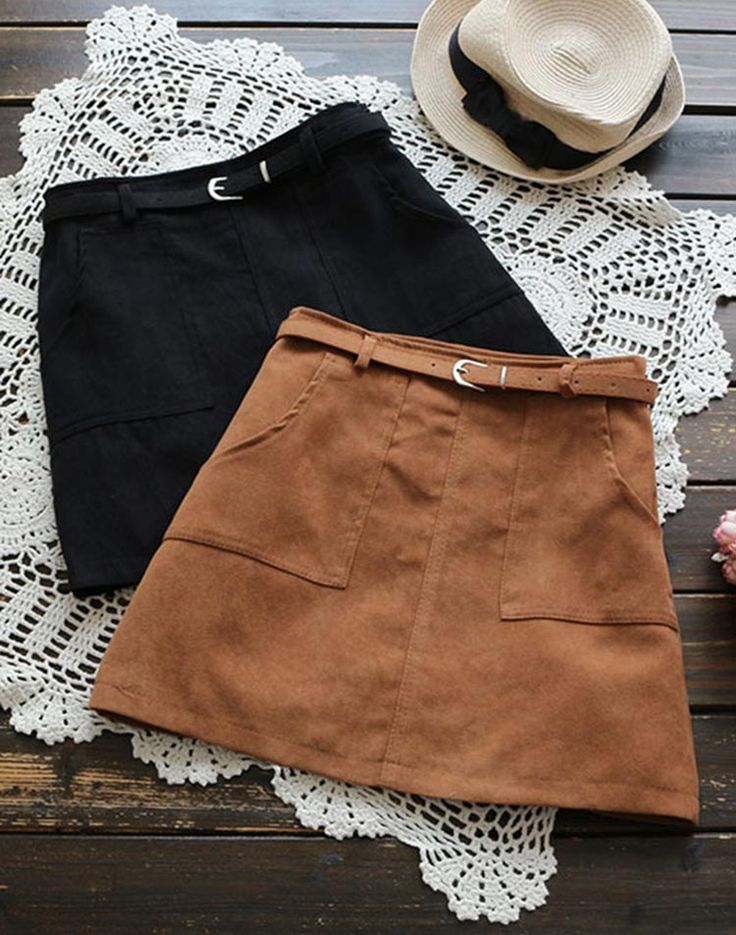 Best layering piece to have with free shipping&easy return Now! This leather A-line skirt featured by side pockets&belt gonna be perfect with any Cupshe knitted pieces you have! Search more at Cupshe.com