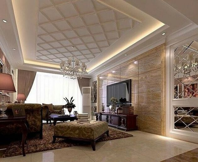 50+ Ceiling Ideas Living Room_12