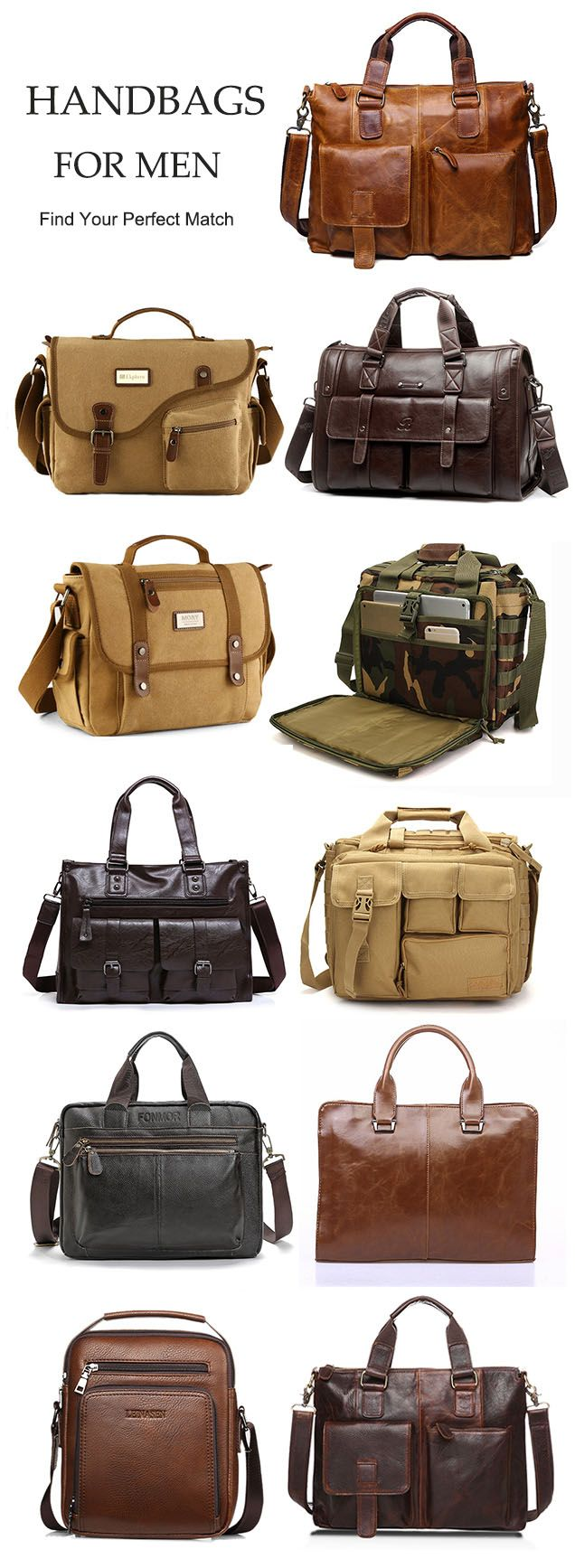From US$15.94 + Free shipping. Men's bag handbags, popular bags for men, large multi-function bags, for business, for leisure, find the style that suits you!